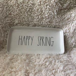 Rae Dunn happy spring platter